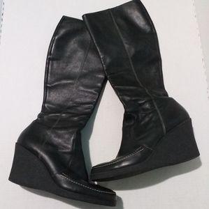 Via Spiga Wedge Boots_ sz 10M